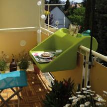 TABLE D'APPOINT POUR BALCON BALKONZEPT MY LITTLE JARDIN : Un potager de balcon chic et pratique
