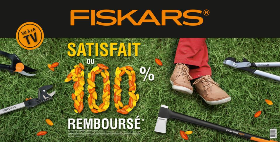 Fiskars met en place une nouvelle opération coup de poing : « Satisfait ou 100 % remboursé »