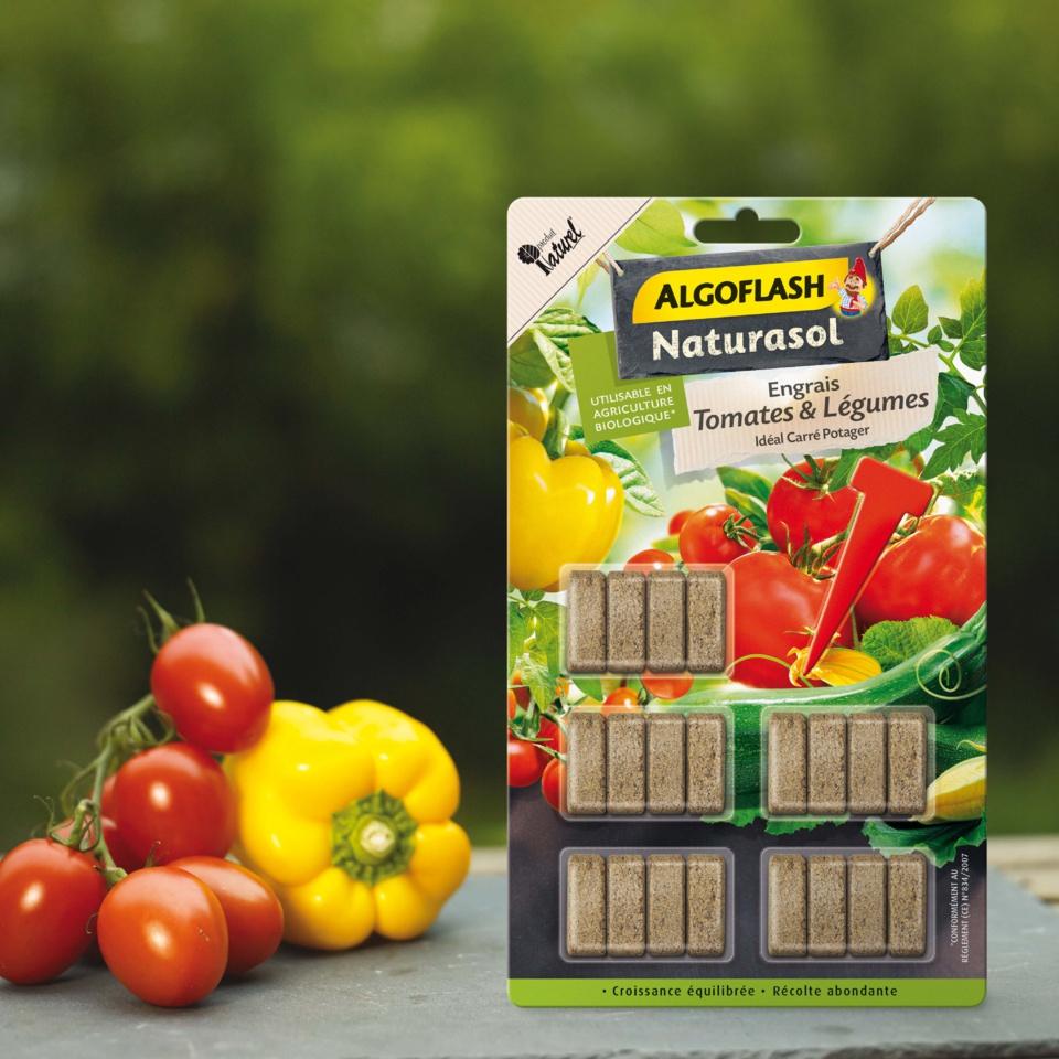 Bâtonnets d'engrais Tomates et Légumes - Algoflash Naturasol