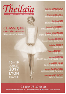 THEILAÏA – 16e Stage International 15 au 19 juillet 2017