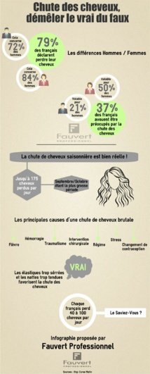 Infographie : Perte des cheveux - Démêler le vrai du faux