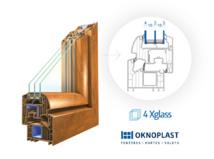 OKNOPLAST - Nouveau - Vitrage 4Xglass dans la gamme de fenêtres Winergetic - L'isolation thermique renforcée