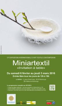 « Invitation à table » : pour sa 12e édition à Montrouge, Miniartextil nous convie à goûter à l'art textile sous toutes ses coutures !