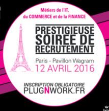 NetXP participe à une soirée Recrutement Plug & Work le 12 avril 2016 à Paris
