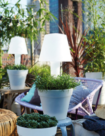 LAMPE ET POT LUMINEUX LOFT LED LIGHT MY LITTLE JARDIN