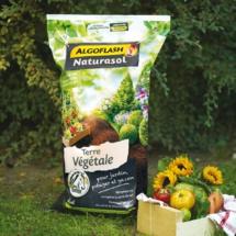 Terre Végétale Enrichie en fumier -  Algoflash Naturasol