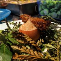 Recette du chef Maximilien Kuzniar de la Plantxa : Œufs Toqué, champignons et noisettes