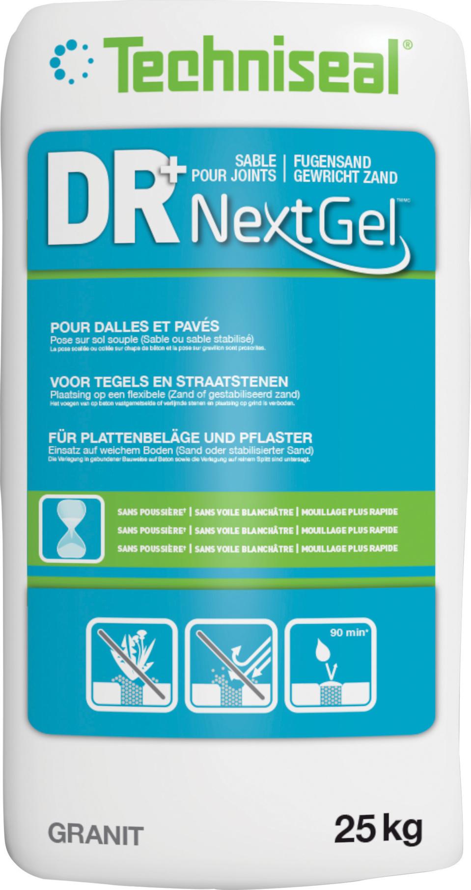 Nouveau Sable pour joints de pavés et de dalles DR+ NextGel™ - Un produit de haute technologie qui révolutionne le jointoiement des pavés et des dalles
