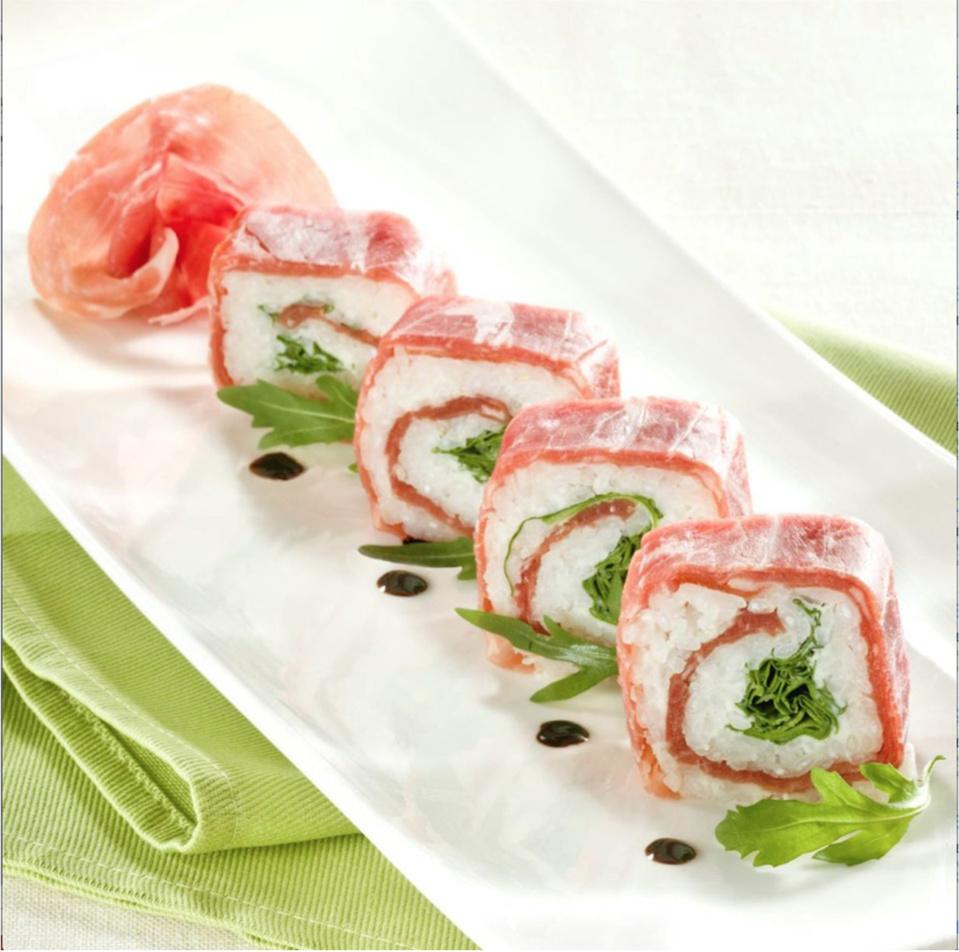 Le Consortium du Jambon de Parme présente sa recette :Sushi au jambon de Parme