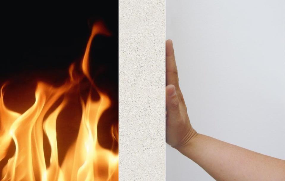 écurité incendie : les blocs de béton cellulaire Cellumat une véritable barrière anti-feu, classée A1