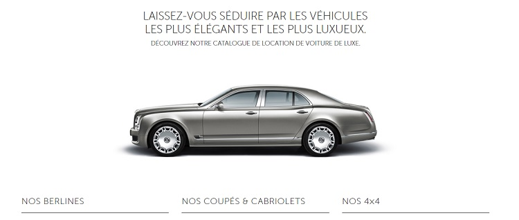 Où louer une voiture de luxe pas cher
