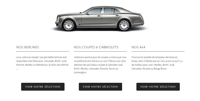 Pour louer un coupé sport à Paris