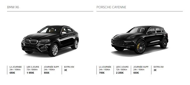 Où louer un 4x4 de luxe à Paris