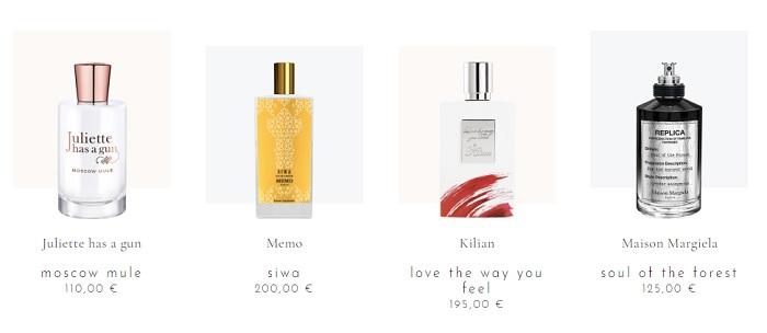 Les grandes maisons de parfums et de cosmétiques