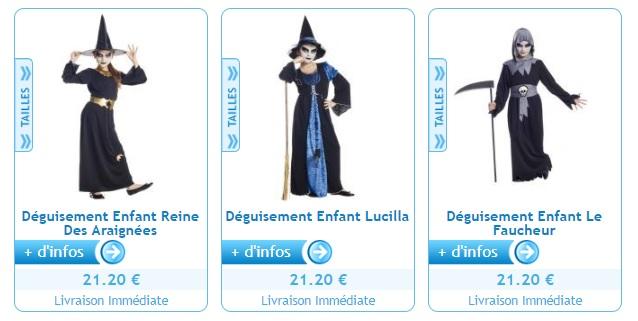 Des déguisements par thèmes: Halloween, Noel ...