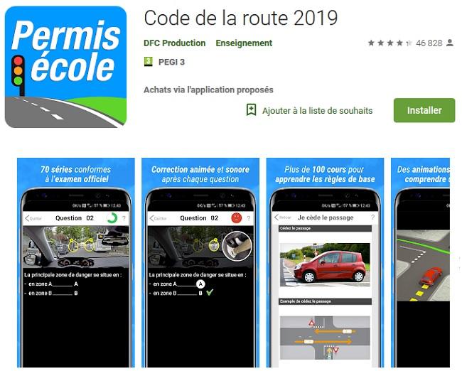 code de la route test gratuit 2019