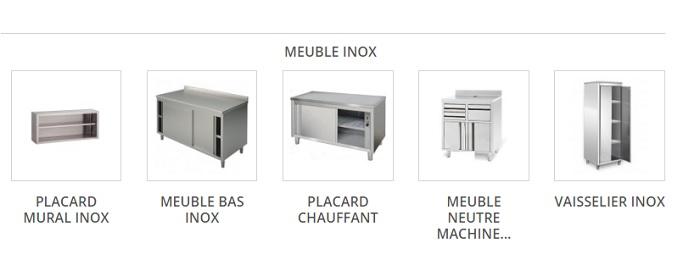 Equipement de restaurant: meubles en inox de cuisine