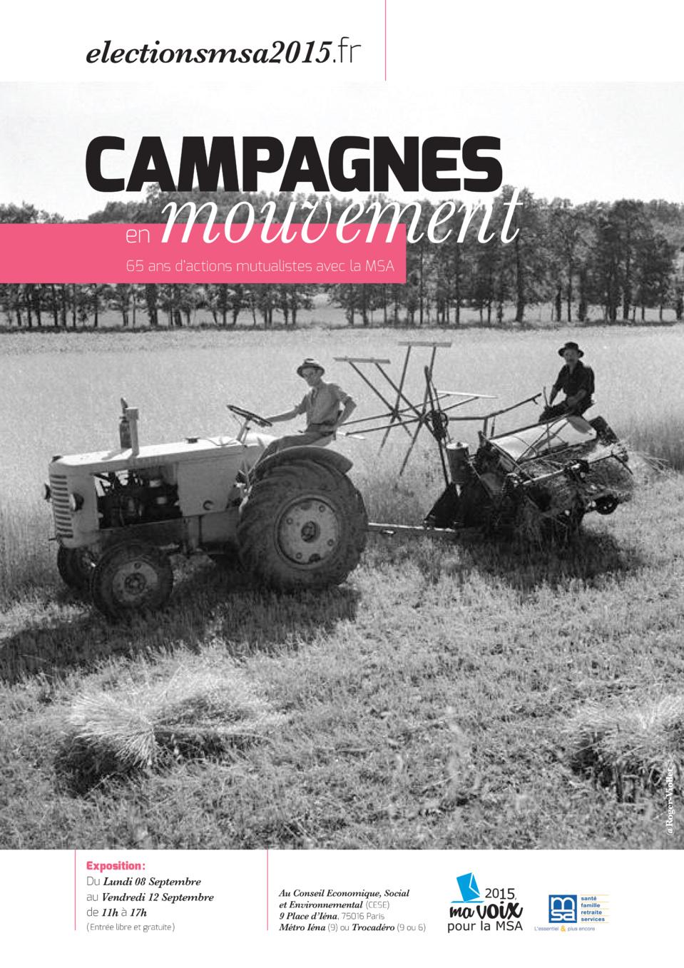 L'EXPOSITION « CAMPAGNES EN MOUVEMENT »  PART EN TOURNEE DANS TOUTE LA FRANCE !