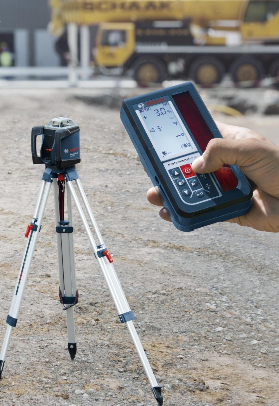 INNOVATION : Laser rotatif à pente GRL 500 HV Professional Bosch - Un concentré de technologie qui simplifie la mise à niveau