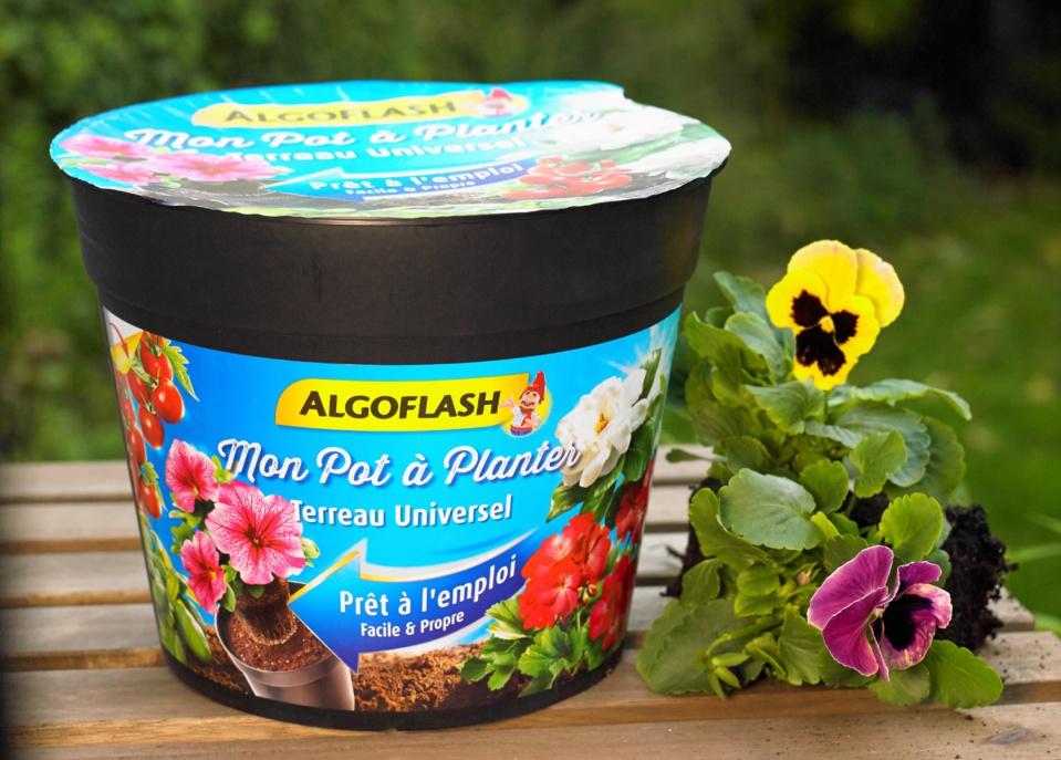 NOUVEAU : Mon Pot à Planter - Le terreau ALGOFLASH déjà dans le pot !
