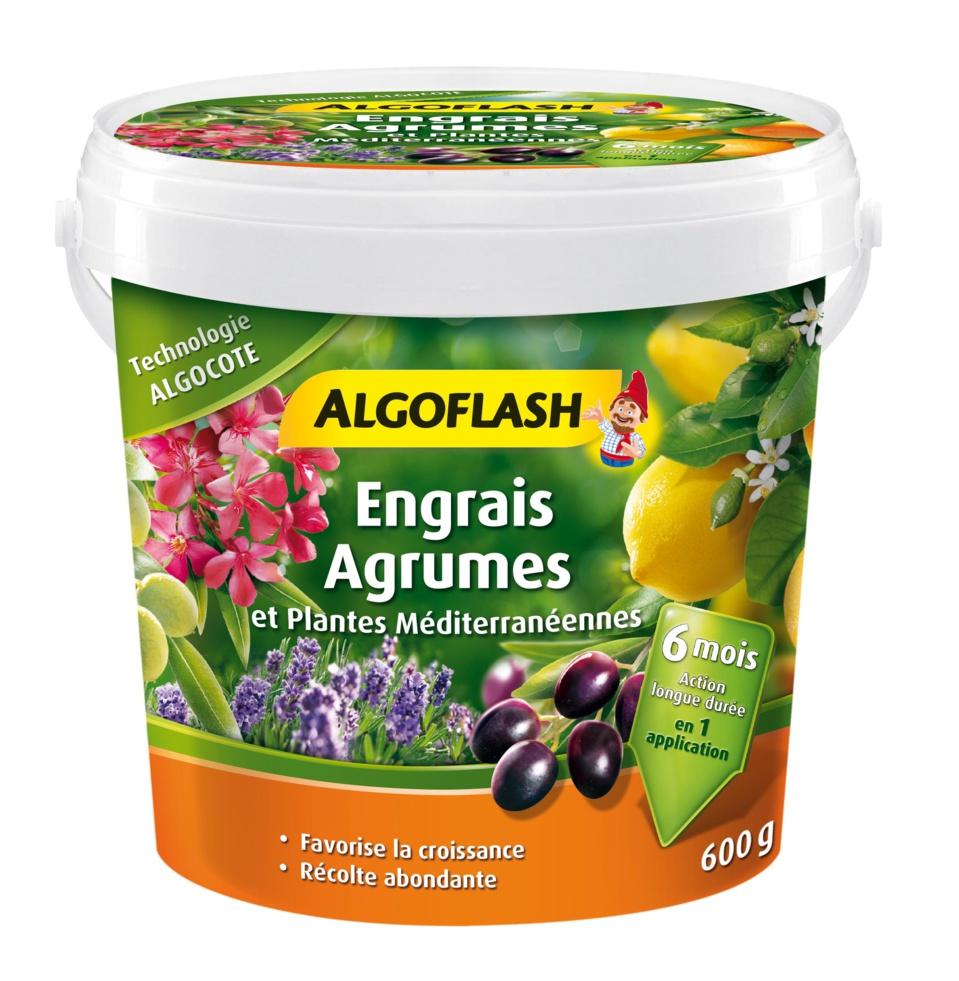 NOUVEL ENGRAIS ALGOFLASH ALGOCOTE AGRUMES ET PLANTES MÉDITERRANÉENNES