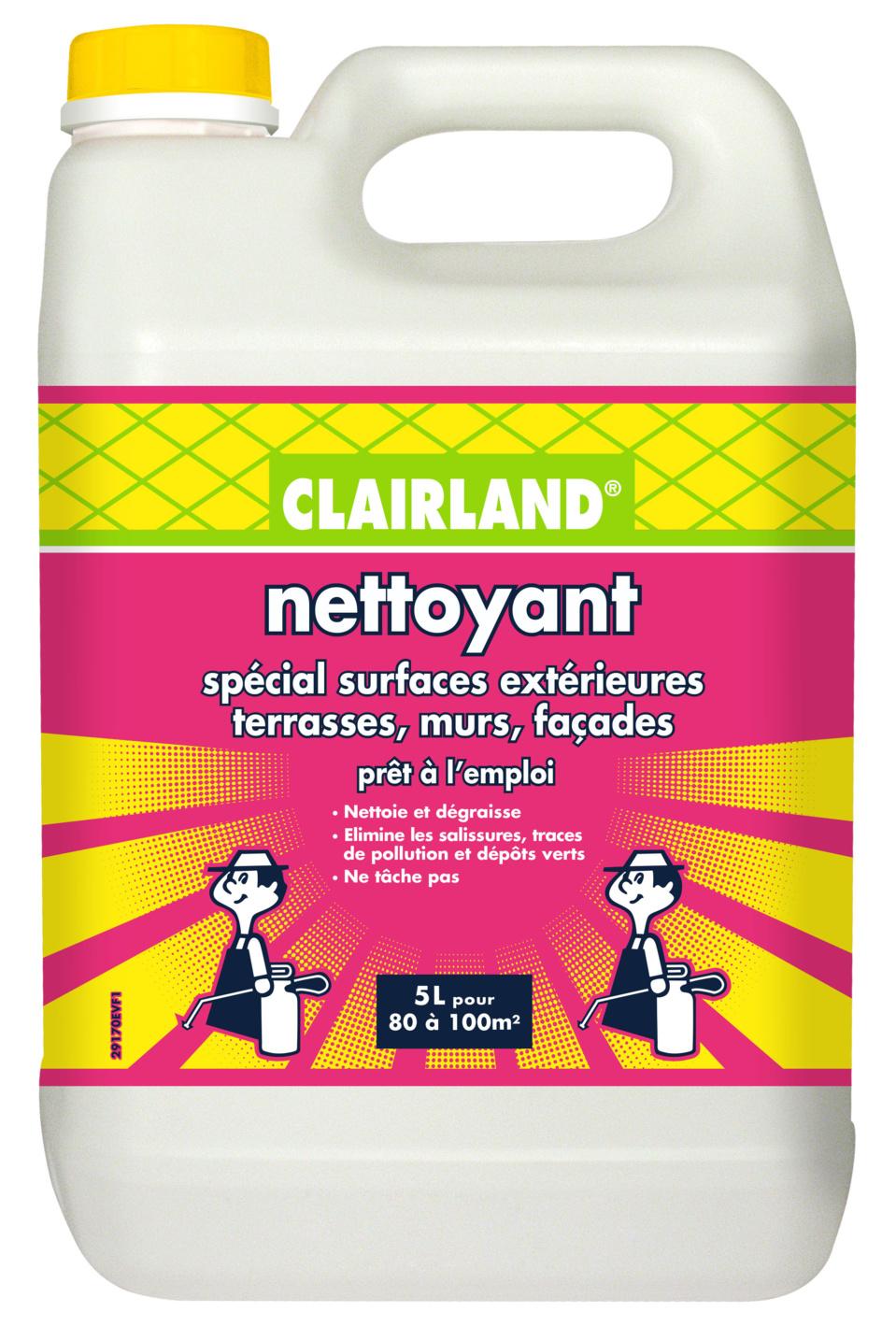 NETTOYANT ET ANTI-MOUSSES IMPERMÉABILISANT CLAIRLAND - Pour des surfaces extérieures propres et nettes