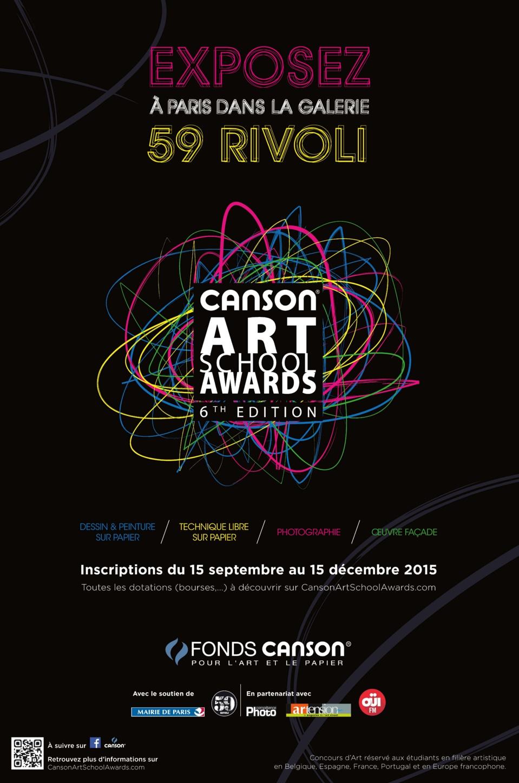 Les lauréats de la 6eédition des  Canson®Art School Awardss'exposent au 59Rivoli,  en plein cœur de Paris !