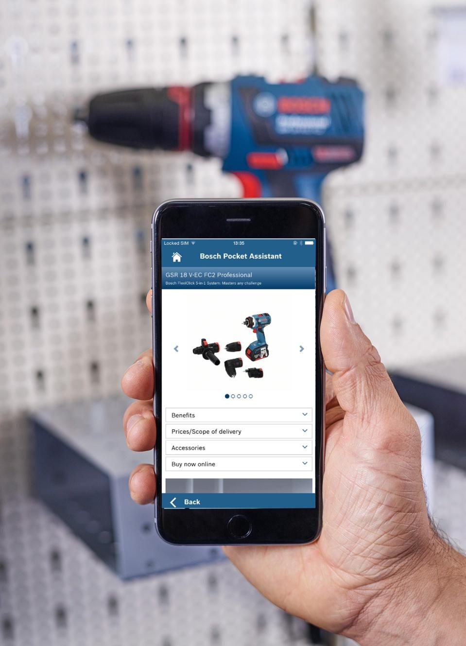 Trouver facilement votre produit depuis votre smartphone - Bosch Pocket Assistant : une application de reconnaissance de produit pour professionnels