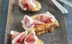 Le Consortium du Jambon de Parme présente sa recettedu mois de janvier : Toasts au fromage et jambon de Parme