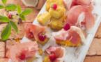 Beignets sucrés à la vanille et au jambon de Parme